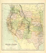 Map of the United States, Sheet 1, The Chambers Encyclopaedia, Vol. 10, 1908