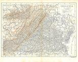 Map of Virginia, Encyclopaedia, Vol 28, 1911