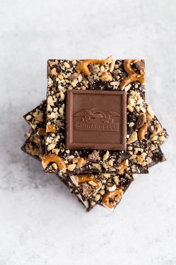 5-ingredient-dark-chocolate-pretzel-bark