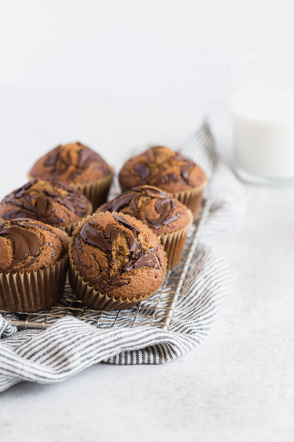 Easy Pumpkin Chocolate Swirl Muffins