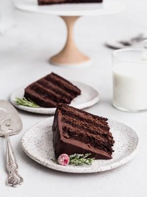 dark-chocolate-mousse-cake