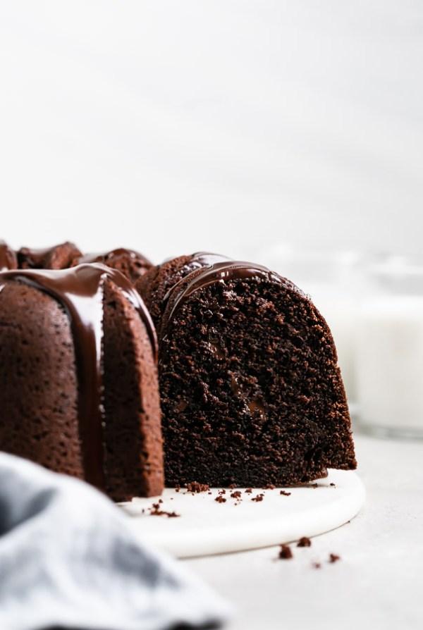 double-chocolate-chip-bundt-cake