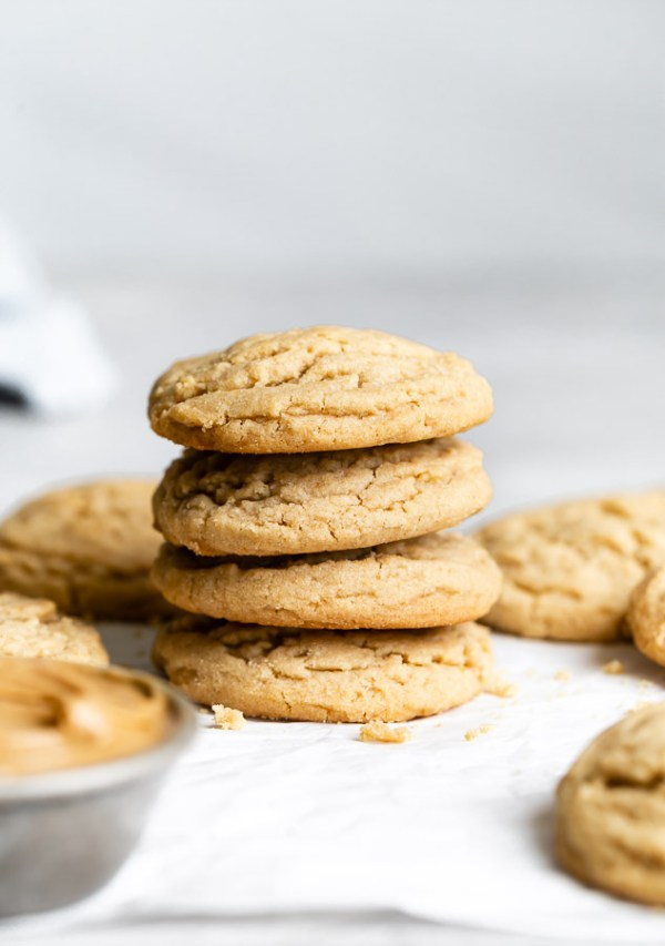 single stack of 15 minute peanut butter cookies