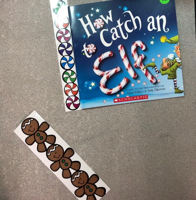 measuring with gingerbread men and candy pieces.