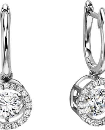 14K White Gold Diamond Rhythm of Love Earrings 3/4 ctw-0