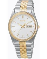 Pulsar Men's Two Tone Stainless Steel Watch with Day and Date Display-0