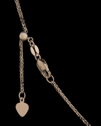 22 Inch Adjustable Wheat Chain 14K White Gold-0