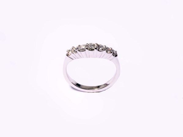Contour Matching Diamond (0.50ctw) Band in 14K White Gold
