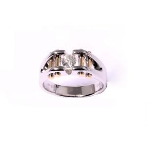 Men's Diamond Ring 0.49ctw in 14K Two Tone Gold