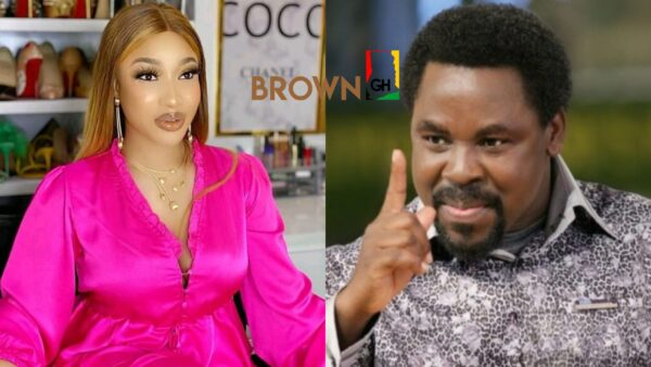 """""""Pick up your call daddy"""" – Actress Tonto Dikeh reacts to the death of Pastor TB Joshua"""