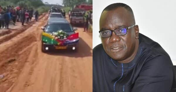 After everything Sir John did for Ghana, look at the poor state of road to his home town — Photos
