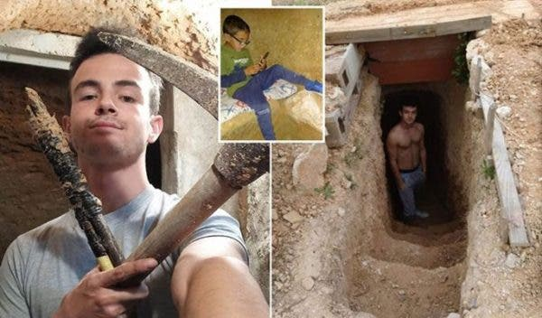 Teenager spends 6 years digging underground cave after fight with his parents
