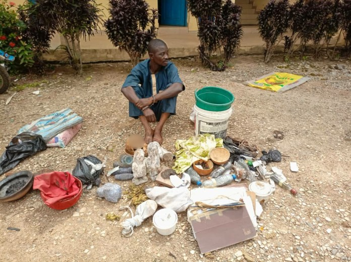 Suspected ritualist arrested with human skull