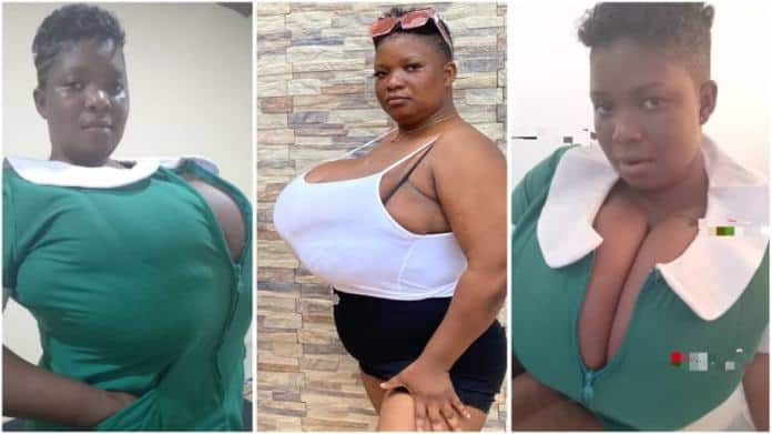 'Top heavy' plus-size lady causes chaos as she flaunts her big bre@st online