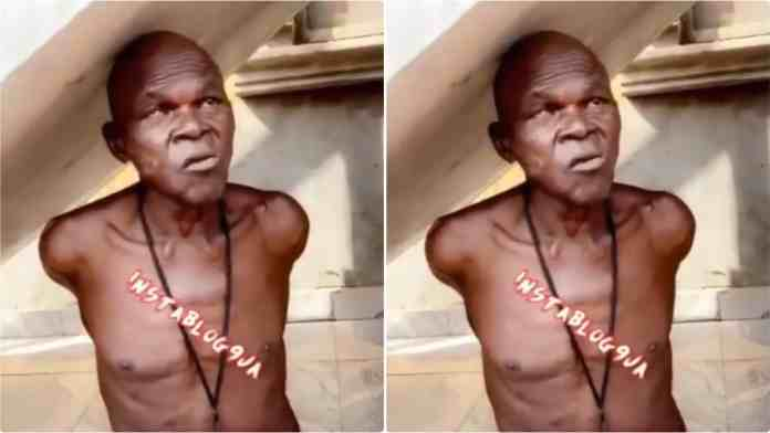 Aged man who allegedly sells used sanitary pads and diapers arrested