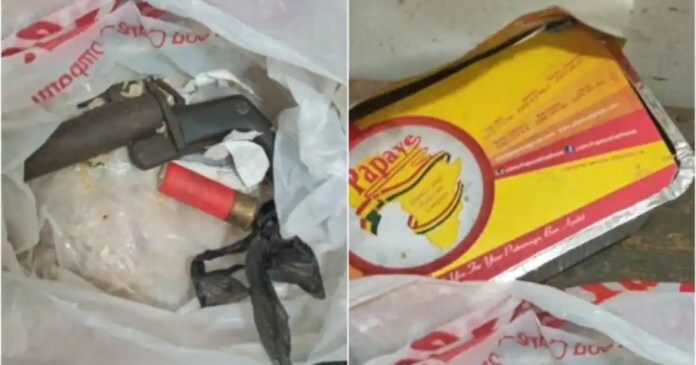 Police finds gun hidden in 'Papaye' for inmate