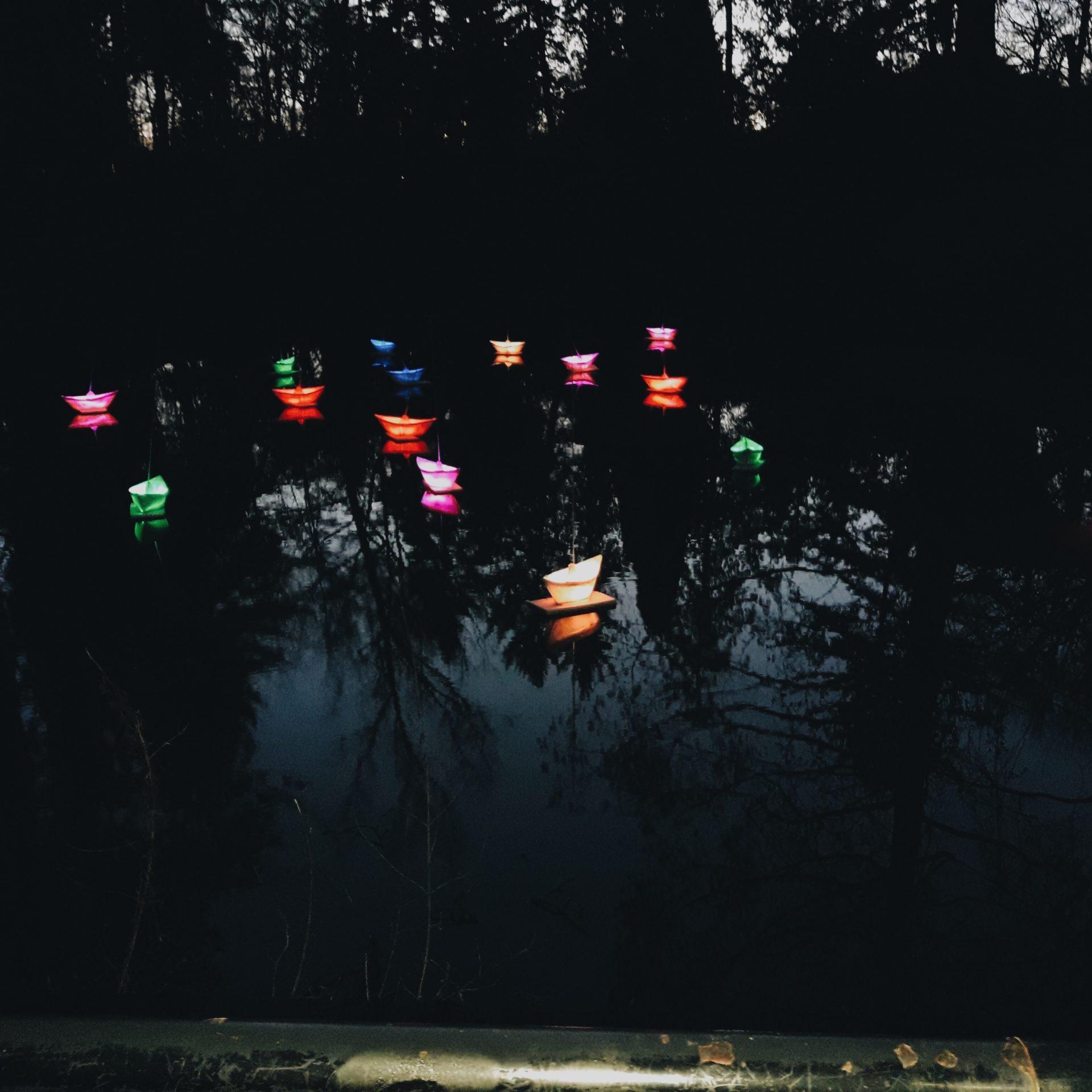noel berlin : les bateaux illuminés
