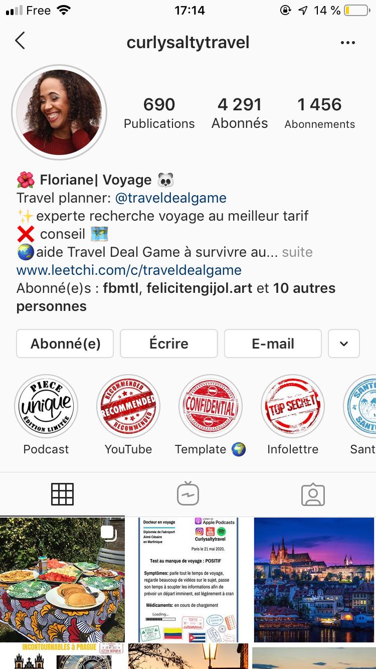 interview floriane : page instagraminterview floriane : page instagram
