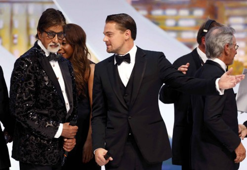 Amitabh Bachchan with Leonardo Di Caprio. Source: Indian Express