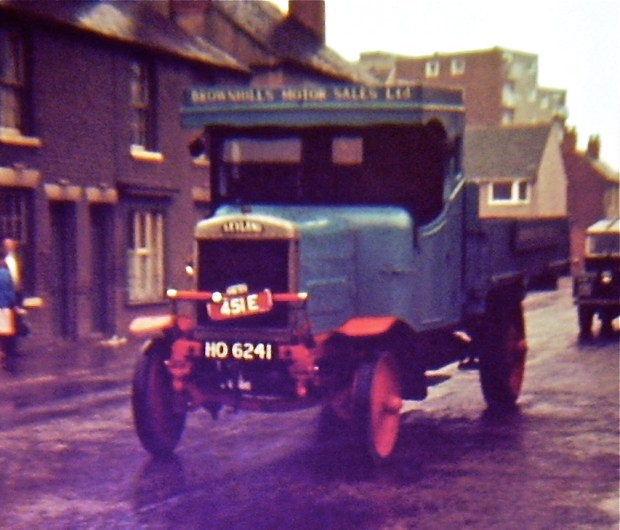 Godfrey's photo of one of Ferrie's classic trucks. Note Severn House in the background - I guess the houses in the background (the terraces to the left) would be where Philip Cheetham lived, by the SNC spiritualist church.