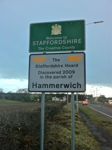 Sign recently erected on the A461, Lichfield Road, Sandhills, just before the Barracks Lane junction. 4:10pm Wednesday, 26th January 2011.