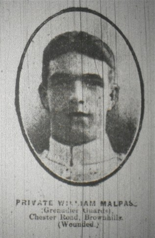 Private William Malpass (Grenadier Guards) Chester Road, Brownhills (Wounded)
