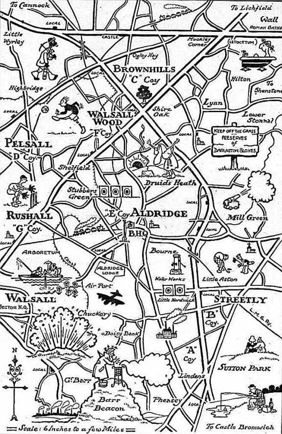 This map is brilliant, never seen it before. I wonder who drew it? Just love the 'in' jokes, like Caesar in the bath...