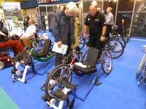 There are a good range of bikes for those with physical disabilities. This is a growth market.