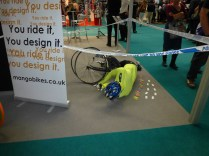 This has to be the worst way to sell insurance to cyclists I've ever seen. People were actively avoiding it.
