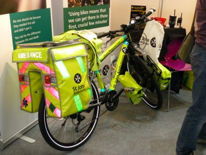 This St. John's paramedic bike was impressive. The role of cycling paramedics is vitally important in congested city centres.