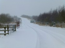 Near the M6 toll bridge at Hilton, it was hard to tell where the road was exactly.