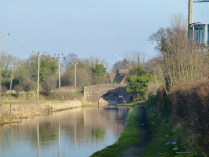 The late afternoon sun at Curdworth: the canal towpaths are awful here, but the scenery makes up for it. Shame about the littler.