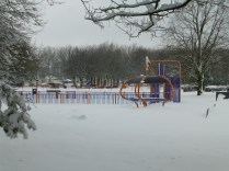 Holland park was unusually deserted.
