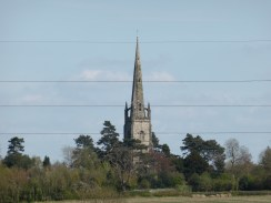 Clifton Campville's remarkable church, from Haunton.