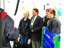 The rain didn't put of Walsall's Mayor, who had a busy schedule today.
