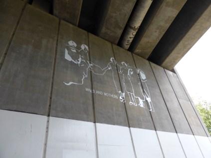 Motorway bridge artwork at Polesworth