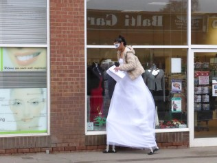 Meet Brownhills' very own 10ft Snow Queen. My hat is doffed.