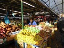 Of course, the fruit and veg market was up and bustling way before we got here.