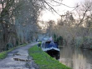 I love the sight of smokey narrowboat moorings.