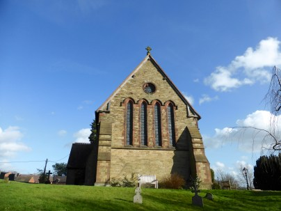 St. Bartholemew's at Hints: remarkable gable end view.