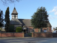 I just love that church - the same rural, farmhouse theme as Hopwas, but more formal.