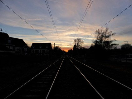 Vanishing points: snapped quickly on a level crossing in Lichfield.