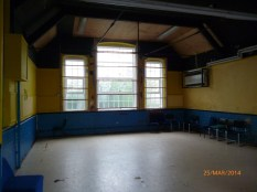 The second year classroom, minus the wooden partition, but retaining the high vaulted ceilings. Image courtesy David Evans.