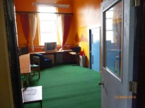 MrShingler's classroom. The eight-year olds were taught in this classroom, which has been subdivided and modern doors replace the originals. The classrooms had no carpets, of course. Image courtesy David Evans.