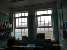Mr Barker's headmaster's office, much as it was, apart from the new window frames. He was a kind man who owned an Austin A30 in those days. His wife taught in the secondary school, just across the school playground. Image courtesy David Evans.