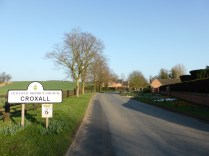 Croxall: barely a hamlet, but beautiful crocuses on the verges