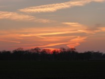 By the time I got to Lynn it was nearly dark, but this sunset wasn't leaving unnoticed.