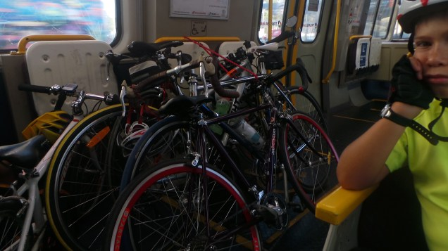 Oh to have trains with this much space for bikes! Image kindly supplied by Trevor Brown.