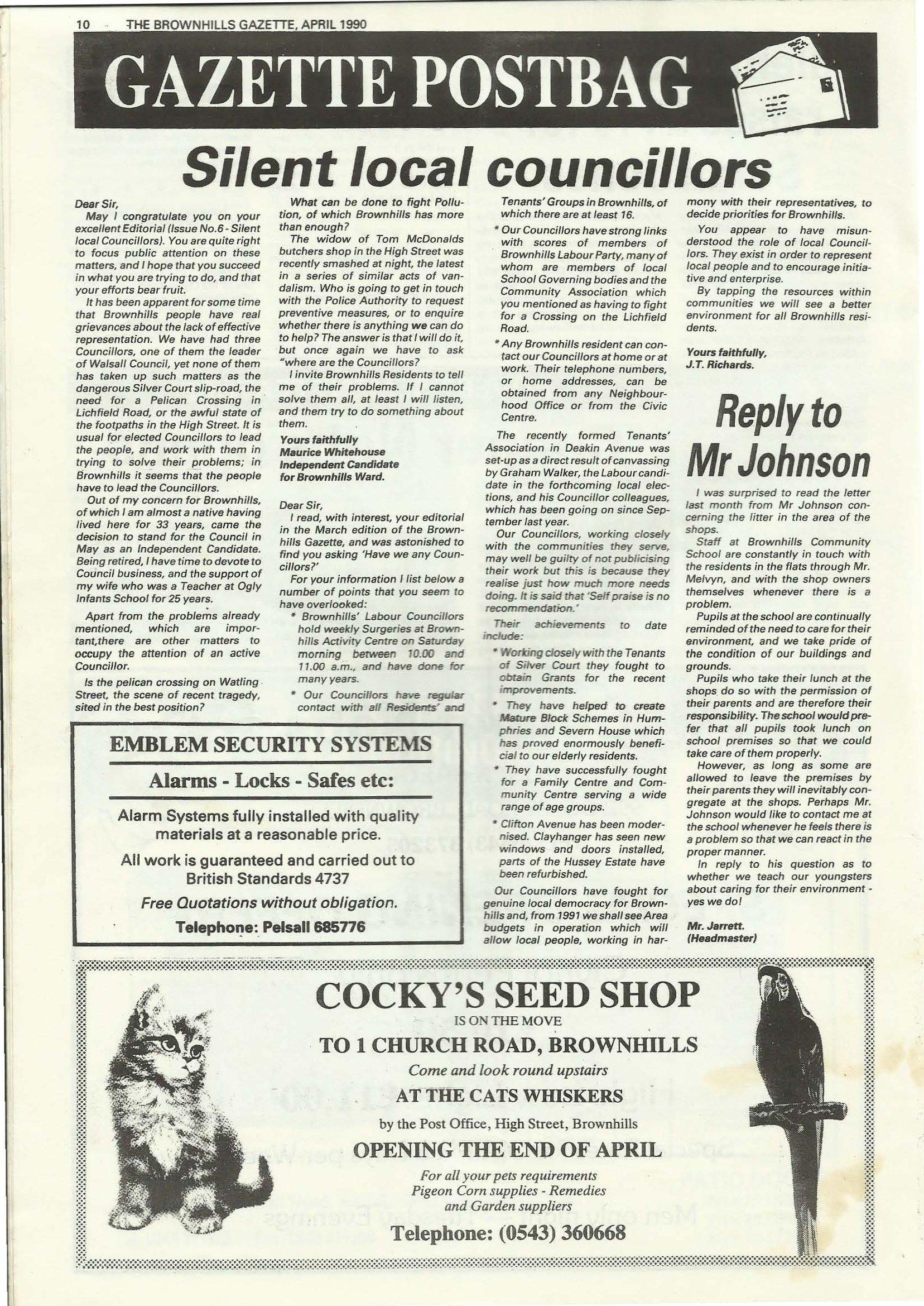 Brownhills Gazette April 1990 issue 7_000010