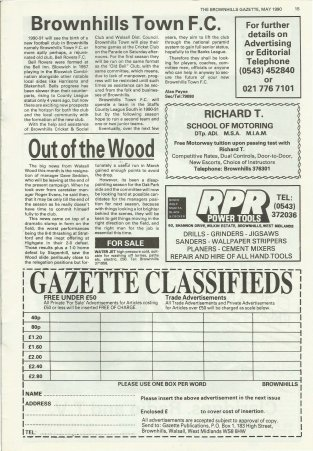 Brownhills Gazette May 1990 issue 8_000015